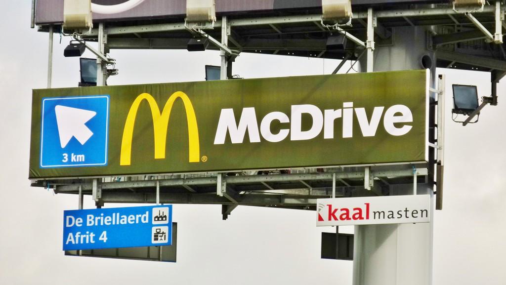 reclamedoek McDonalds relamemast OOHA Media - kopie