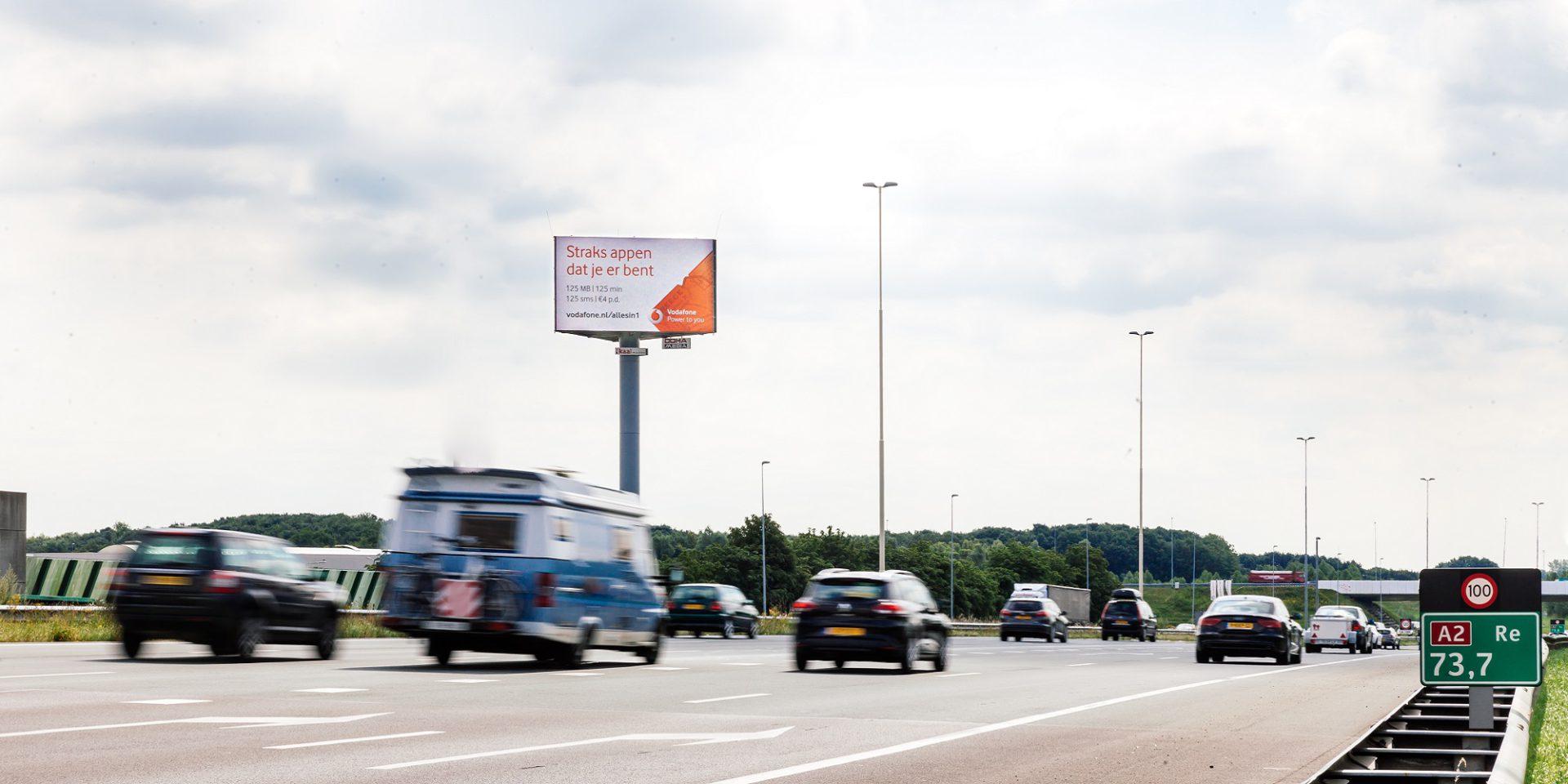 A2 digitale snelwegreclame