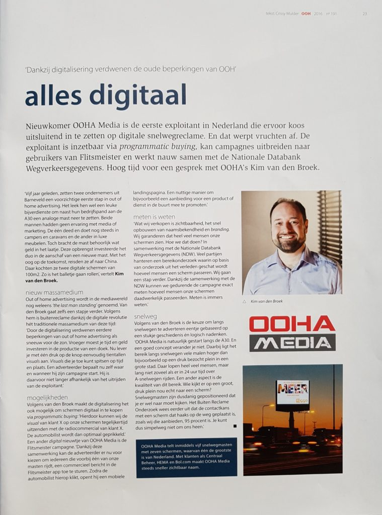 OOHA Media in Fonk Magazine