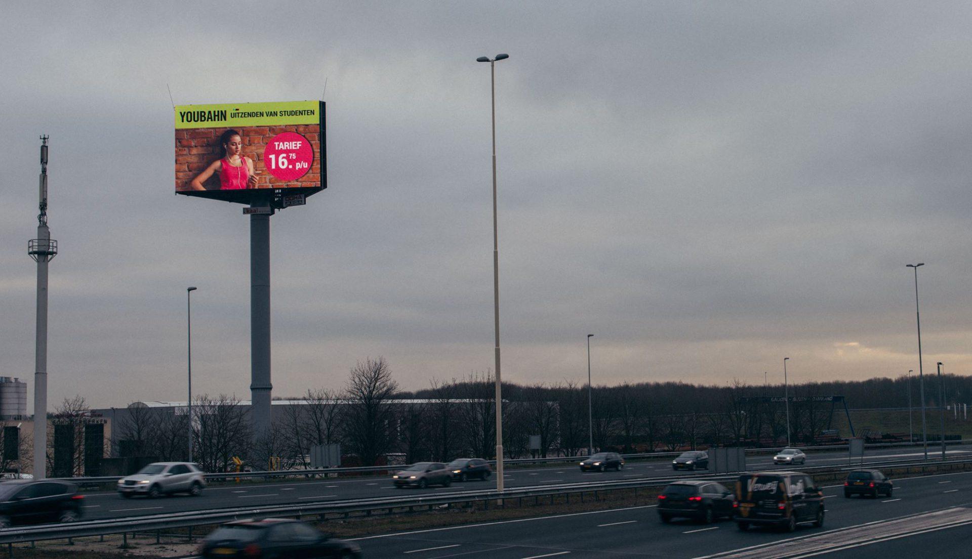 Youbahn A2 reclamemast